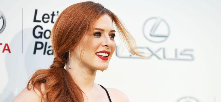 L'attrice Rachelle Lafevre è un'irriducibile del rosso ramato. #redhair #gingerhair #redhead #gingerhead #redlips #ponytail