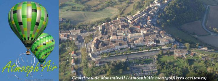 Décolage de Castelnau de Montmirail en montgolfière