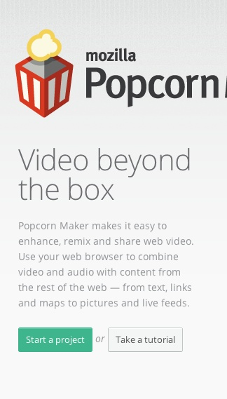 Must try Mozilla Popcorn Maker for creating great videos