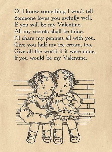 Such a charmingly sweet vintage Valentine's Day poem. #poetry #vintage #Valentines #poem #cute