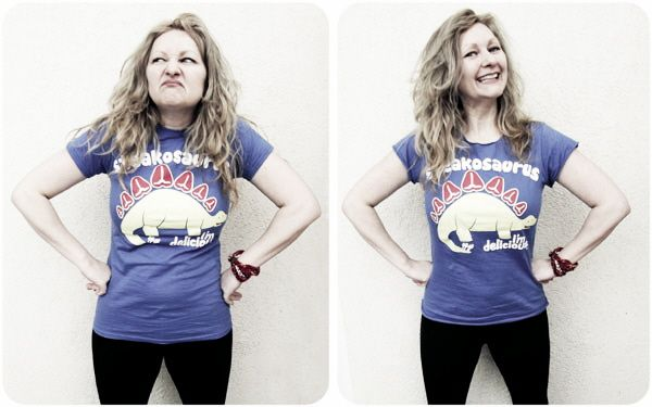 Get the simple no-sew trick I used to make my groovy dino t-shirt fit oh-so-much better with my how to no-sew upsize a t-shirt tute
