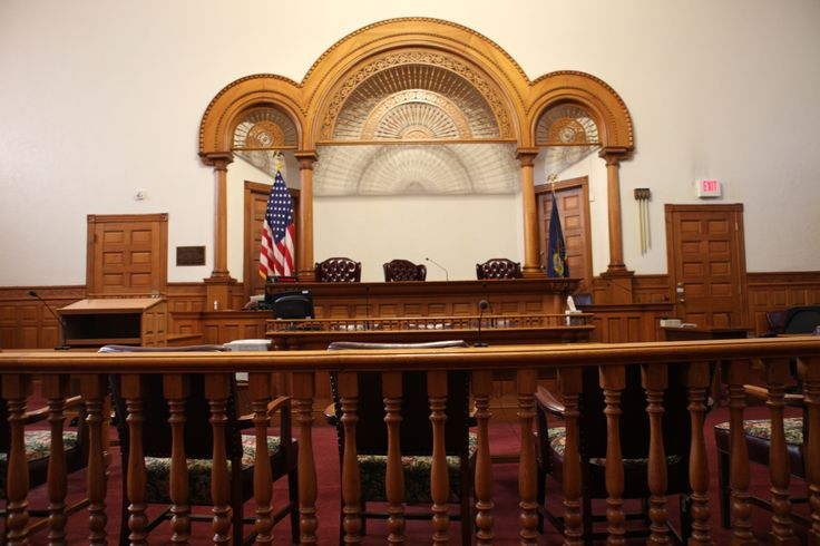 Interior Court Room Judges Bench