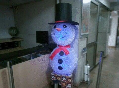 #snowman #cupplastic #navidad snowman hecho con vasos