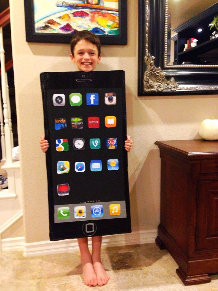 The Iphone Costume I Made For My Boy Only Took An Hour To