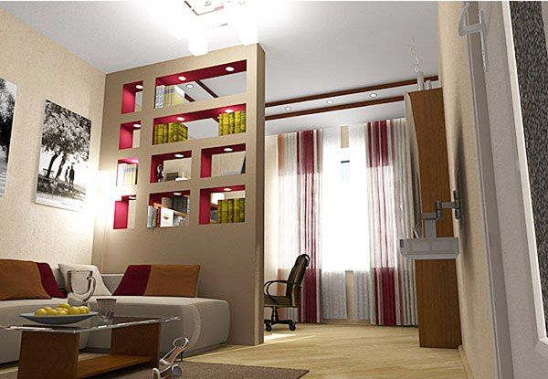 Фото 1 — Декоративная перегородка и книжный шкаф («два-в-одном»)