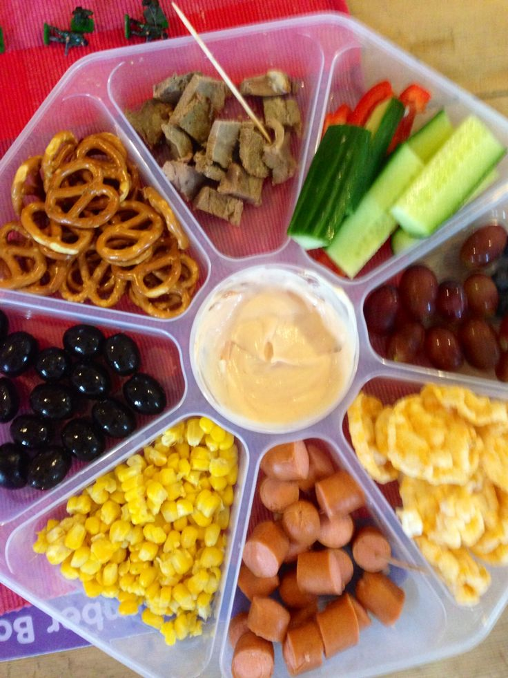Savoury lunch monkey platter in a John Lewis chip n dip tuppaware container for picnics.