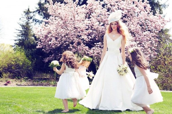 Stunning Feminine Wedding Gowns With A Modern Twist - Weddingbells feature first published Fall and Winter 2013