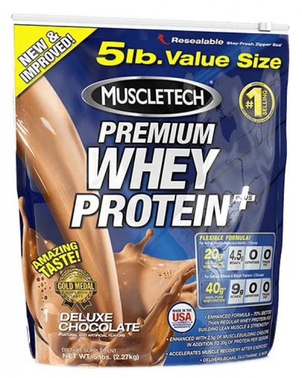 Muscletech 100% Premium Whey Protein Plus consist of 100% instantized whey proteins with a high concentration of branch chain amino acids. It enhance and promote muscle recovery and growth.