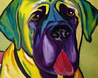Pit Bull Portrait danimal DawgArt Dog Art Art Pit par dawgpainter