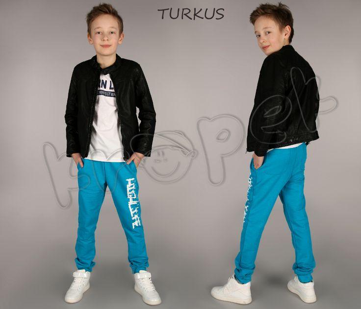 Spodnie dresowe dla chłopca , dresy - 140 - KROPEK - 5114711282 - oficjalne archiwum allegro