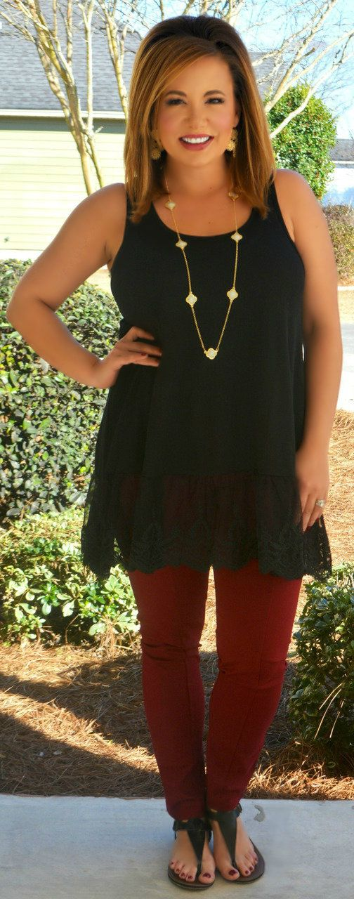 Perfectly Priscilla Boutique - Rendezvous With You Tank - Black, $34.00 (http://www.perfectlypriscilla.com/rendezvous-with-you-tank-black/)
