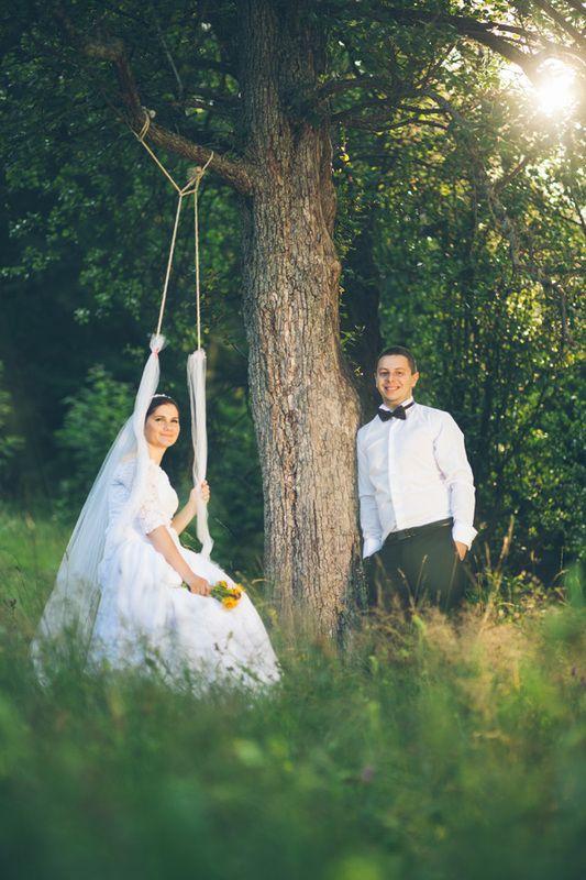 Bride in cradle