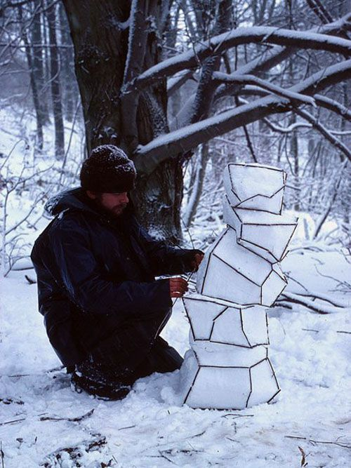 I really like Andy Goldsworthy. I think this would be fun to try and a lot easier than some of his other work...