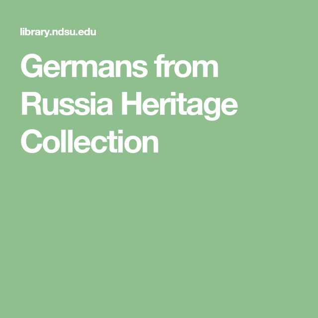 Germans from Russia Heritage Collection