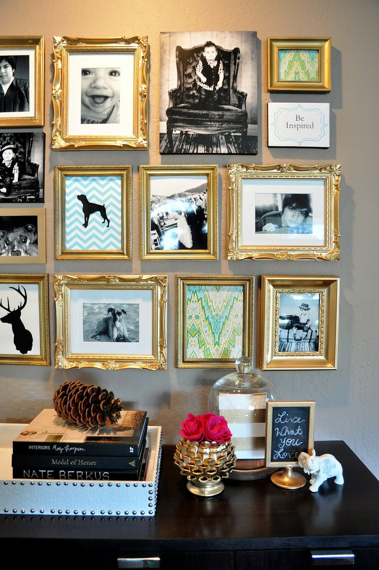 best 25 gold frame wall ideas on pinterest gold picture frames