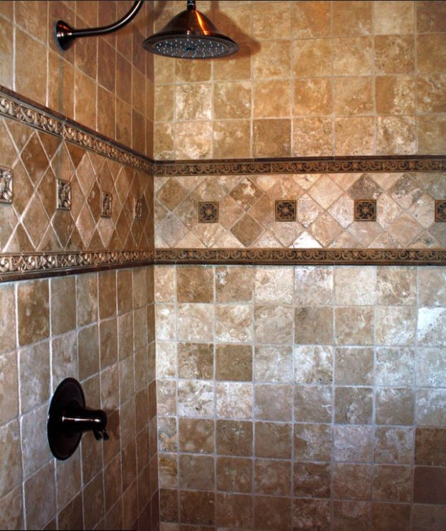Rustic shower traditional bathroom other metro by tumbled for Rustic tile bathroom ideas