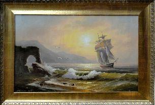 Ночь на море - Морской пейзаж <- Картины маслом <- Картины - Каталог | Универсальный интернет-магазин подарков и сувениров
