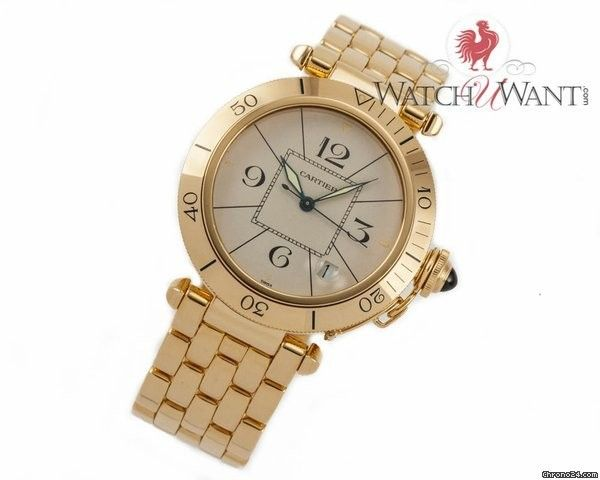 Cartier Pasha Date 38mm 18K Yellow Gold