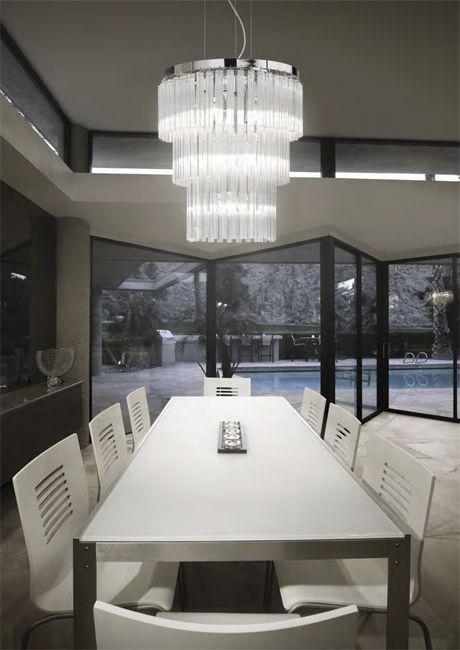 Kryształowa lampa Elegant włoskiego producenta, Ideal Lux