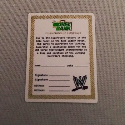 Wwe wrestling figure #money in the bank contract #accessory - 2014 - seth #rollin,  View more on the LINK: 	http://www.zeppy.io/product/gb/2/182408057300/