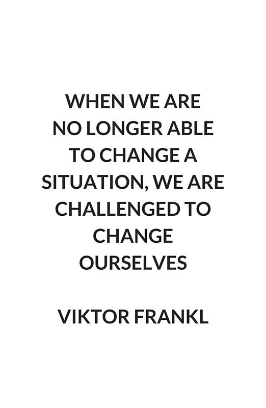 'VIKTOR FRANKL Stoic Philosophy Inspirational QUOTE' Canvas Print by IdeasForArtists