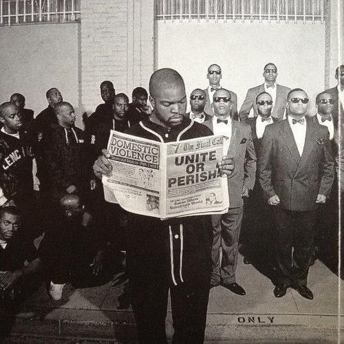 I have seen this photo many times before, but I have never really paid attention to it. The Lench Mob stands to the left. Members of the Fruit of Islam stand at attention to the right. A line on the...