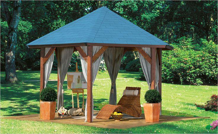 Pavillon Selber Bauen Mitten Im Garten Ist Für Erholung Perfekt