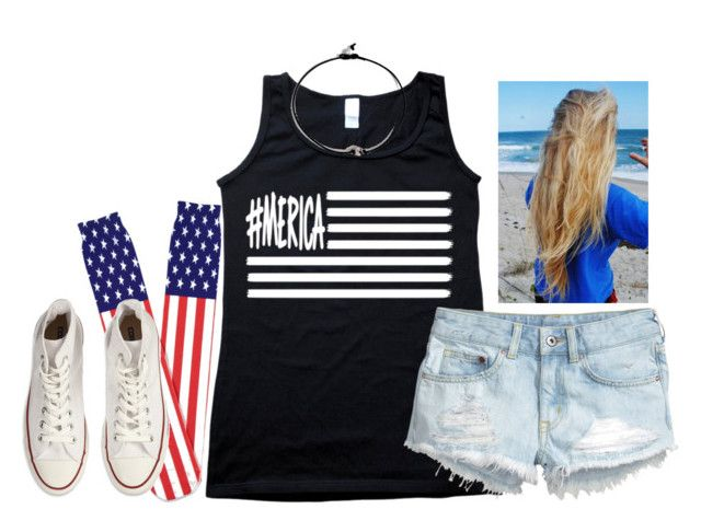 """What I'm wearing to the high school football game tomorrow night✌️"" by kaley-ii ❤ liked on Polyvore featuring H&M, Forever 21, Converse and kaleyschoosets"