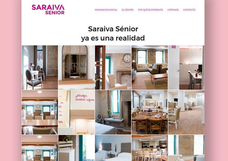 Saraiva Sénior · Web para centro multiservicios para personas mayores