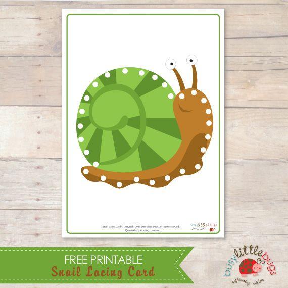 Snail Lacing Card