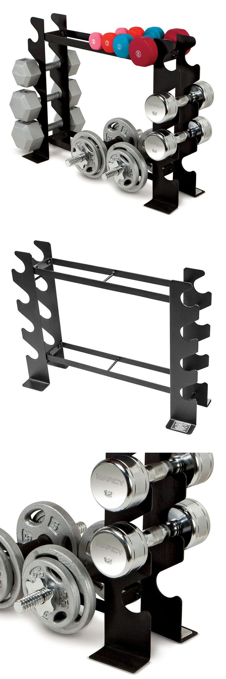 Weight Storage 179819: Compact Dumbbell Rack Marcy Dbr-56 Tier Horizontal Gym Storage Fitness Equipment -> BUY IT NOW ONLY: $45.99 on eBay!
