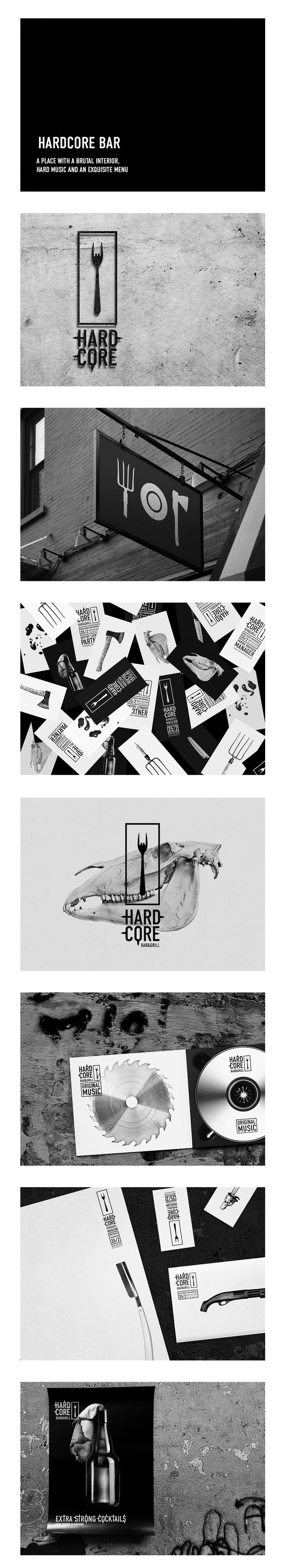 Identity / Hardcore bar / urobarbos | #stationary #corporate #design #corporatedesign #identity #branding #marketing < repinned by www.BlickeDeeler.de | Visit our website: www.blickedeeler.de/leistungen/corporate-design