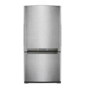 samsung rb195acpn 19 cu ft bottom mount freezer refrigerator stainless platinum