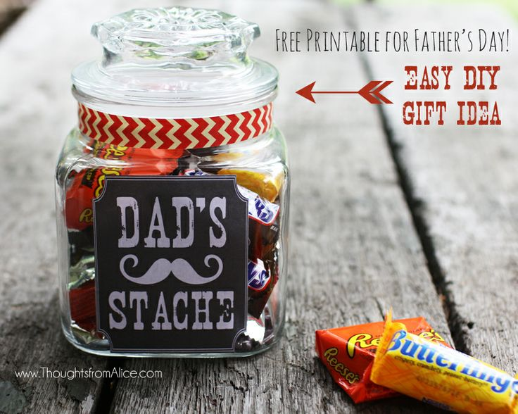 Thoughts From Alice Father S Day Gift Jar Dad S Stache