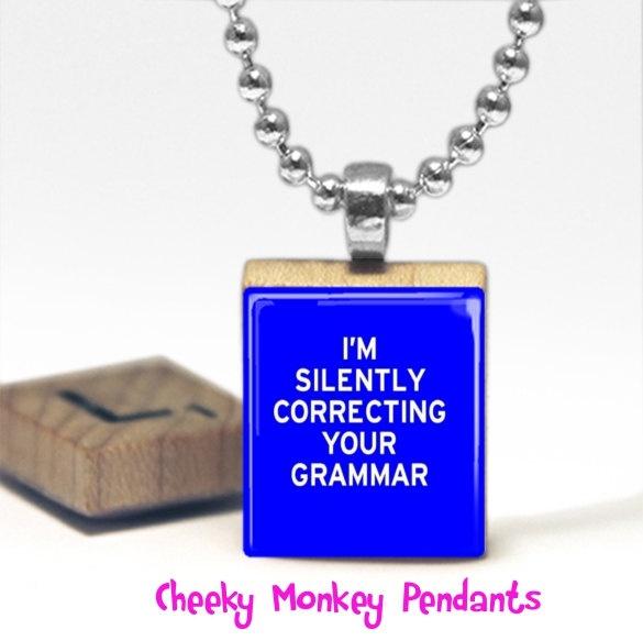 Well, of course!I M Silent, Happy Birthday, Pendants Necklaces, Tile Pendants, Monkeys Pendants, Silent Correct, Scrabble Tile, Cheeky Monkeys