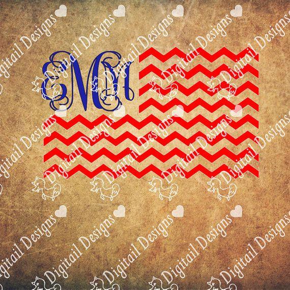 Chevron+Monogram+Flag+Art+SVG+America+svg,+png,+eps,+dxf,+ai,+fcm.+Patriotic+svg+Silhouette,+Cricut+4th+of+July+svg