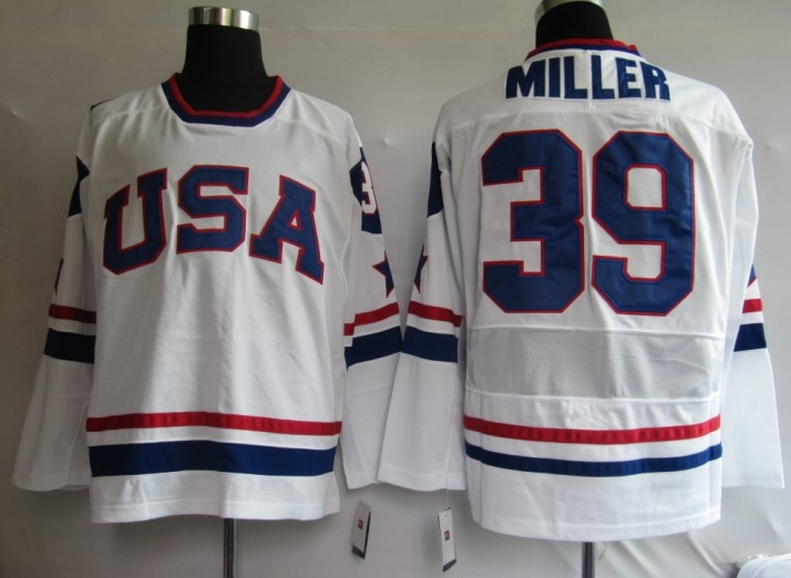 2010 Nhl Jerseys Olympic Ryan Miller 39 White Nhl Jerseys Hockey Clothes Nhl