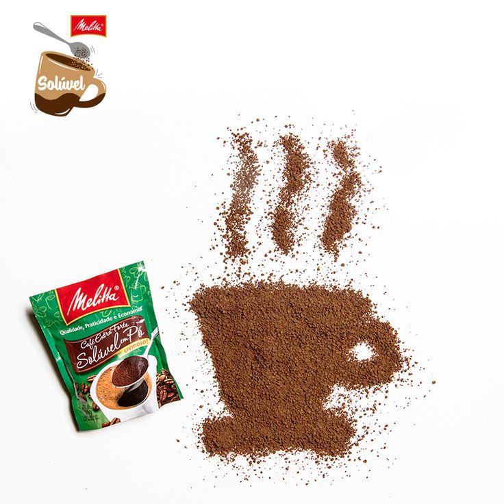 O Café Solúvel Melitta é tão rápido e simples de preparar quanto contar até 3.   Já experimentou? Além do Tradicional, você encontra também nas versões Extraforte e Descafeinado.