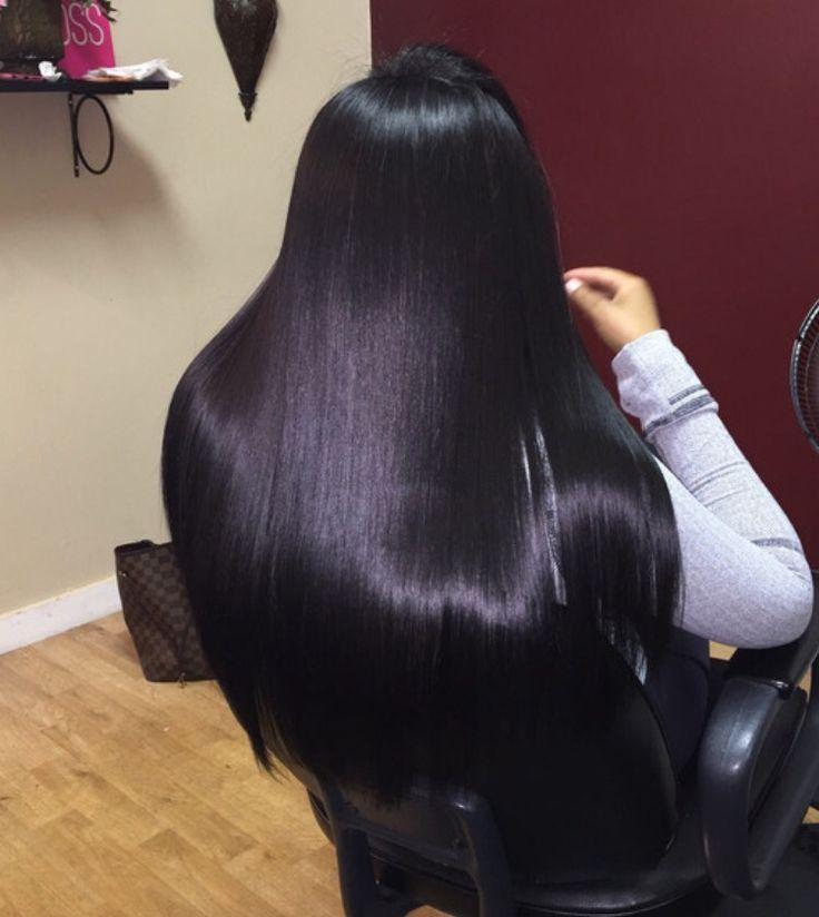 Jet black hair dye