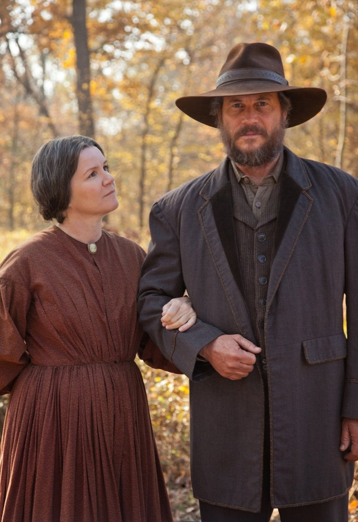 Bill Paxton and Mare Winningham in Hatfields & McCoys