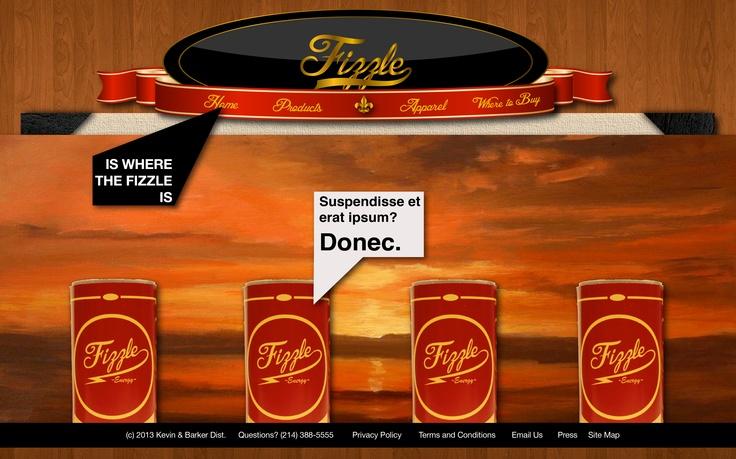 Fizzle Website Page 2