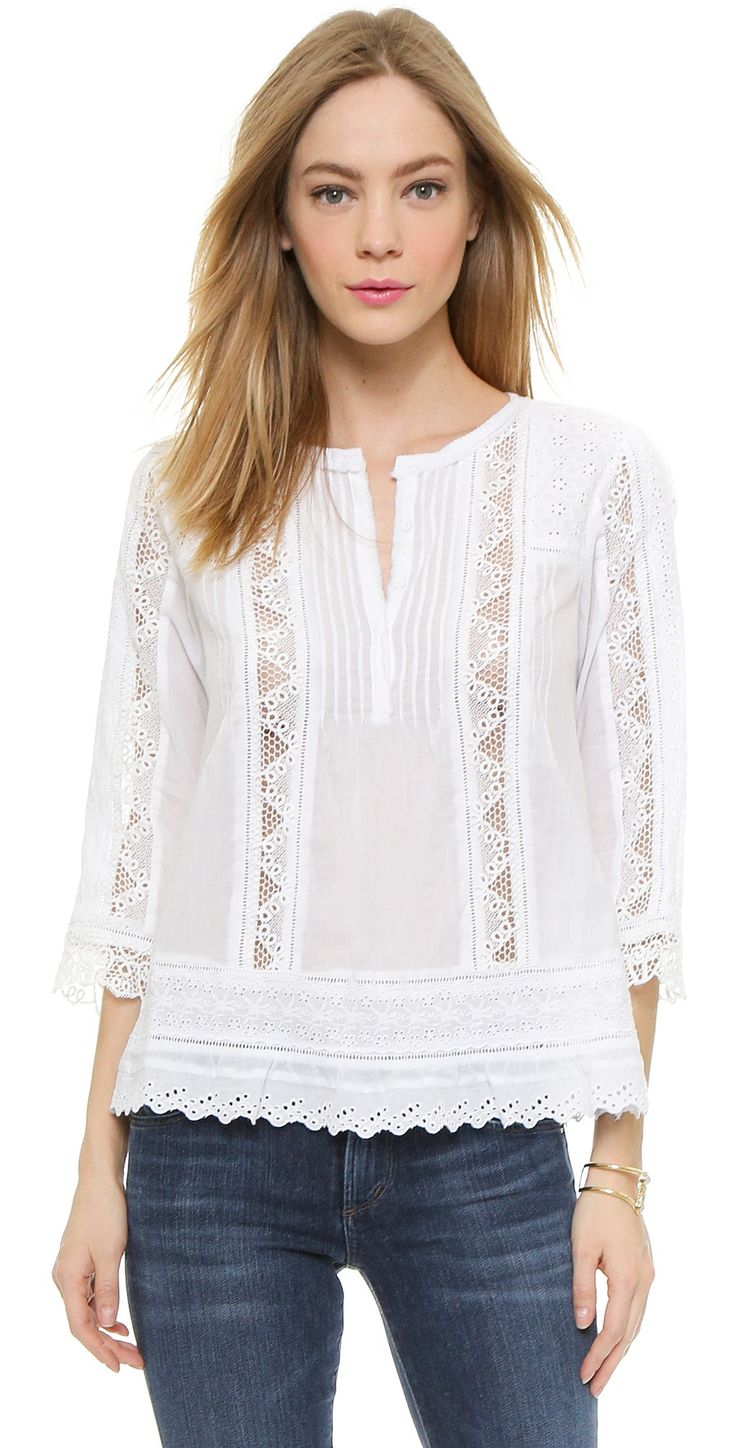 Rebecca Taylor Cotton Voile Top | SHOPBOP