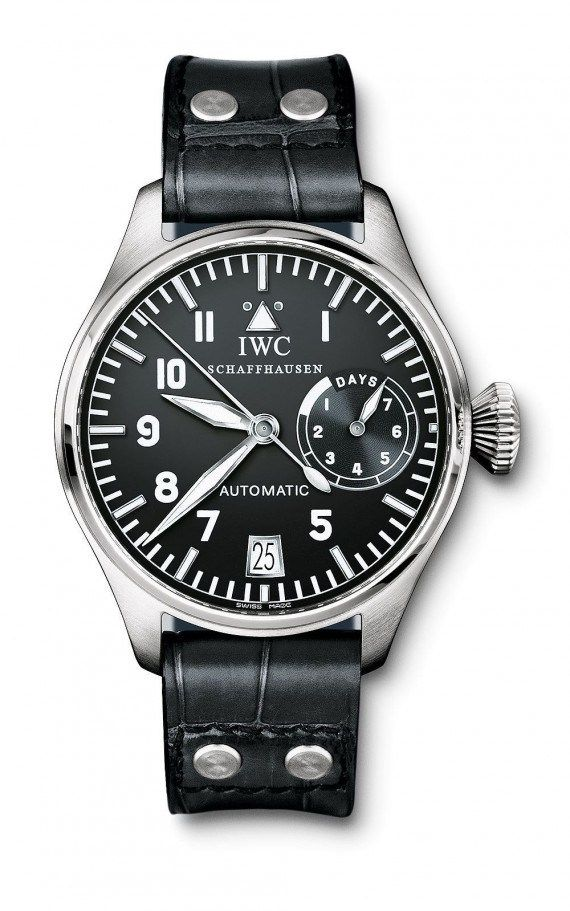 @iwcwatches Big Pilot's Watch (2002) - this edition of the classic Big Pilot's Watch was the first in the family to contain the high-performance IWC-manufactured Caliber 5011 movement.  More @ http://www.watchtime.com/featured/time-flies-9-historic-iwc-pilots-watches/ #iwcwatches #watchtime #pilotswatch