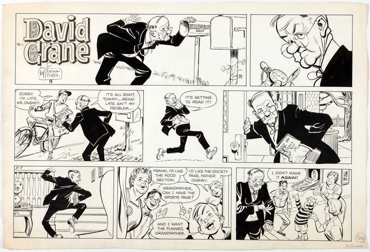 Creig Flessel David Crane Sunday Comic Strip Original Art dated | Lot #14046 | Heritage Auctions