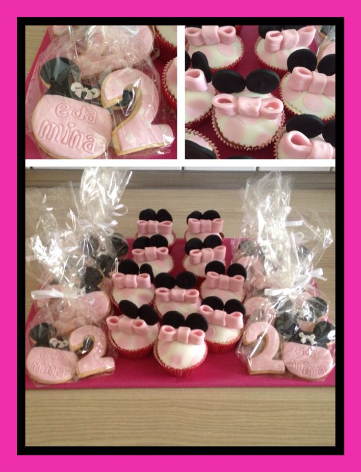 Minni mous Cookies and cup cake