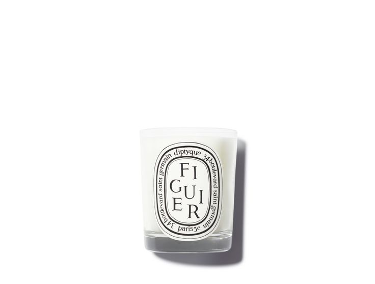 DIPTYQUE Figuier Scented Candle | An ode to the fig tree, this green, fruity scent conjures up wild orchards on sun-drenched Greek isles | @violetgrey