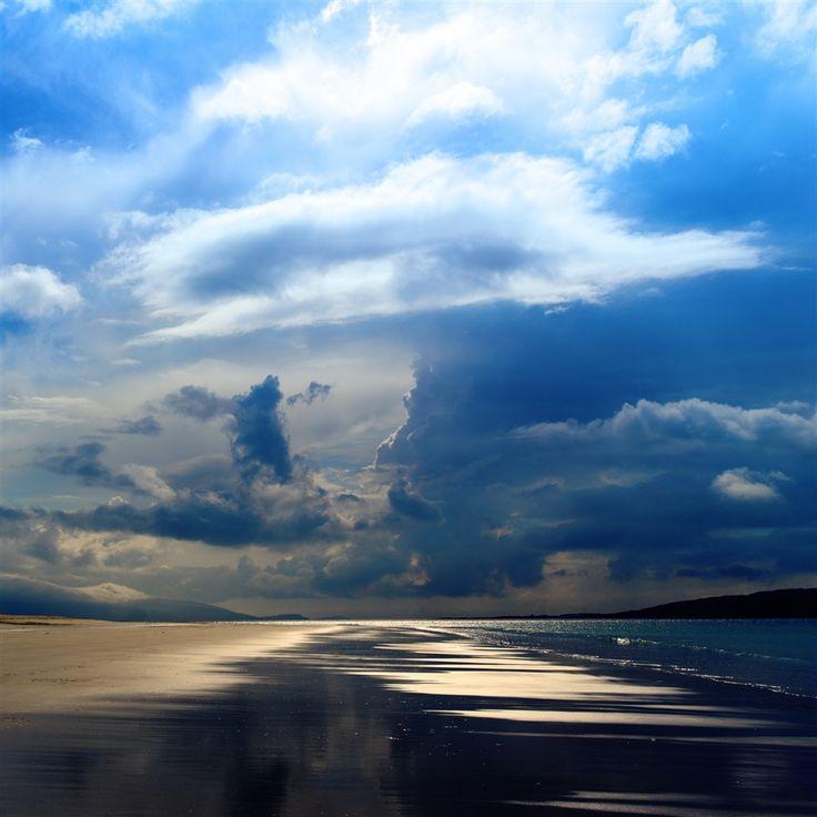 Sea Ocean Evening Beach Sand Sky Clouds #Retina #iPad #Air #wallpaper
