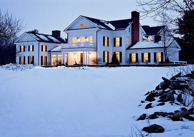 Countryside farmhouse in New York by Crisp Architects.  We love their traditional homes.  If only they were in California!
