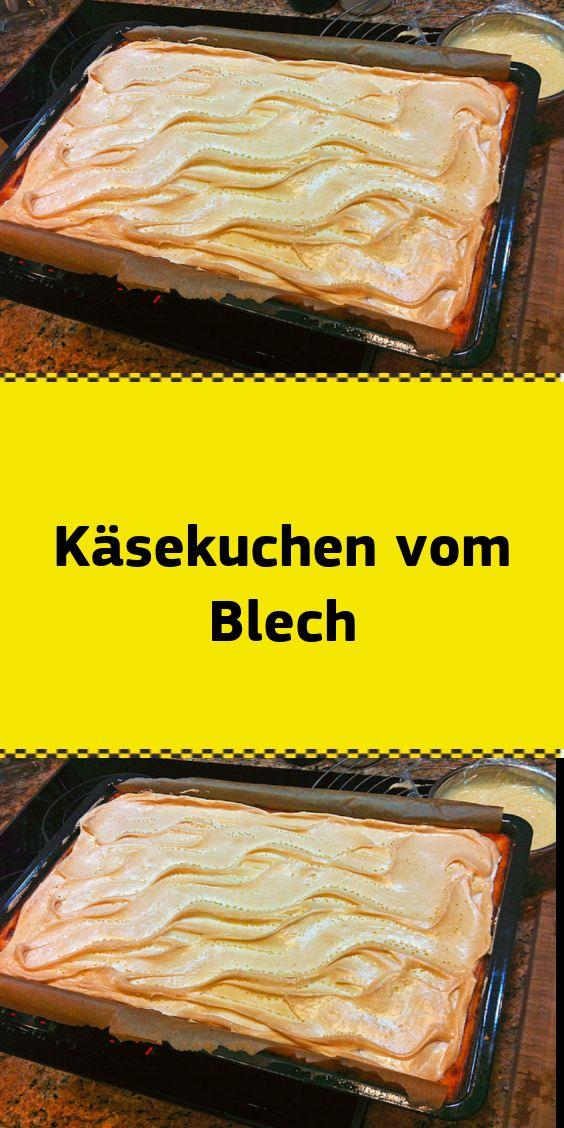 Käsekuchen vom Blech