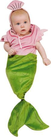 Baby Mermaid Costume Baby Bunting- Baby Bunting Costumes- Infant, Baby Costumes- Baby, Toddler Costumes- Halloween Costumes - Party City  If the baby is a girl, I'm so doing this to her for big sisters party.